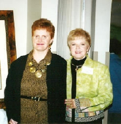 June Barrett, founder of The Crumley House (R) is pictured with her daughter, Lori Beth (L)